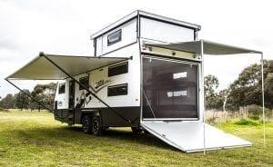 Caria Caravans GT8 2 story Toy Hauler